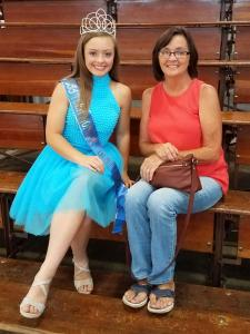 2017 Miss Teen Monroe County waits in the stands with her grandmother, Becky Shaup, both of Allen County